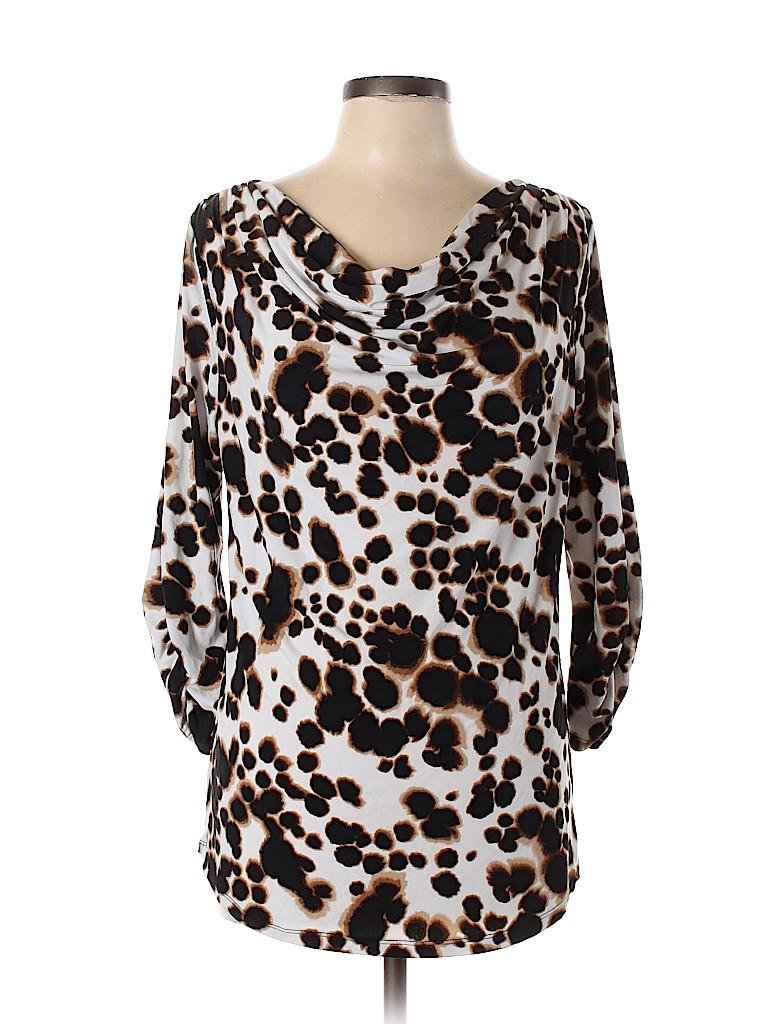 Adrienne Vittadini Women 3/4 Sleeve Top Size L