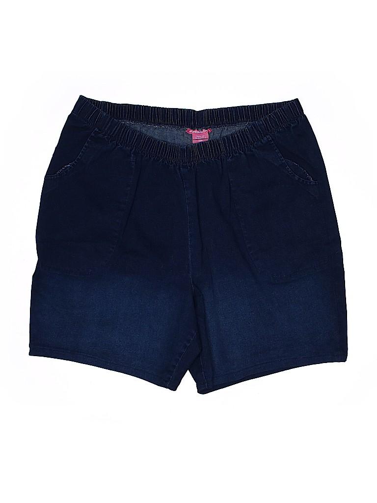 Woman Within Women Denim Shorts Size 26 (Plus)