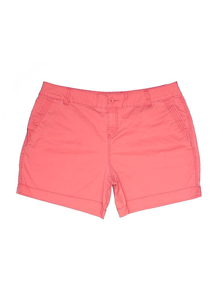 Maurices Women Khaki Shorts Size 18 (Plus)