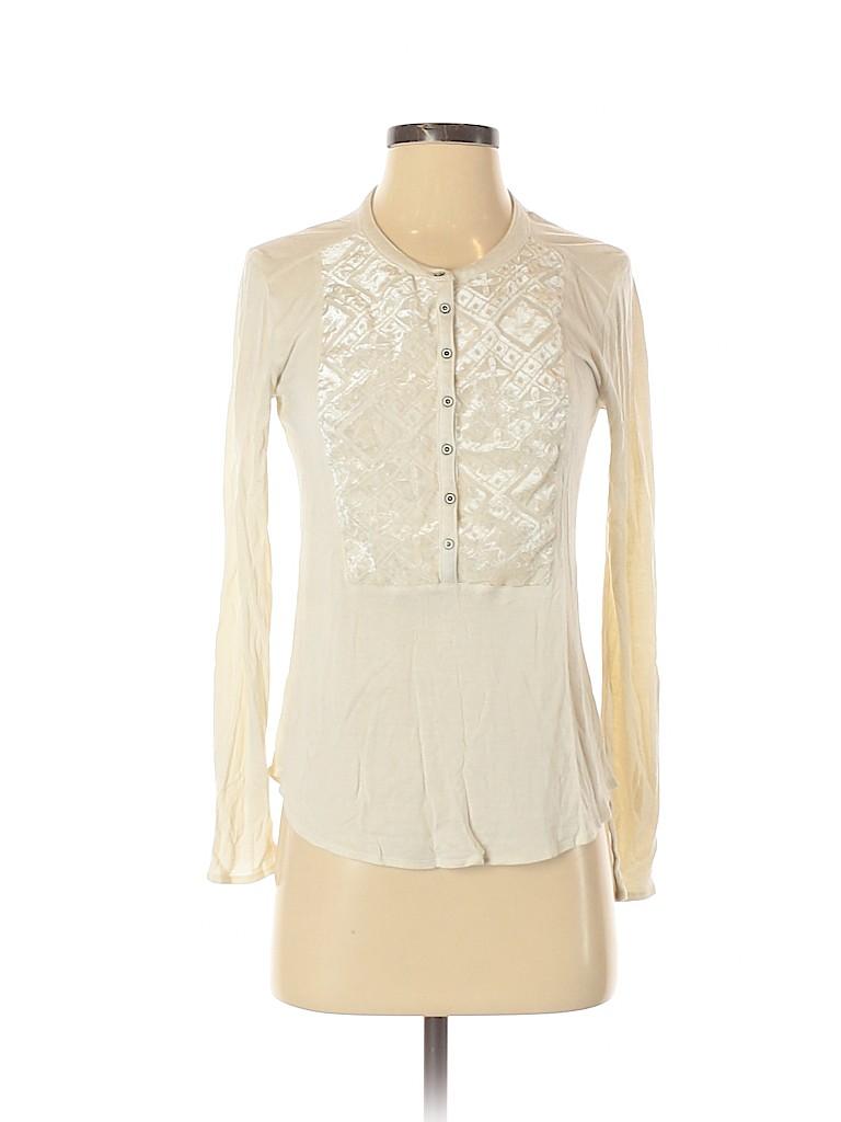 Lucky Brand Women Long Sleeve Henley Size S
