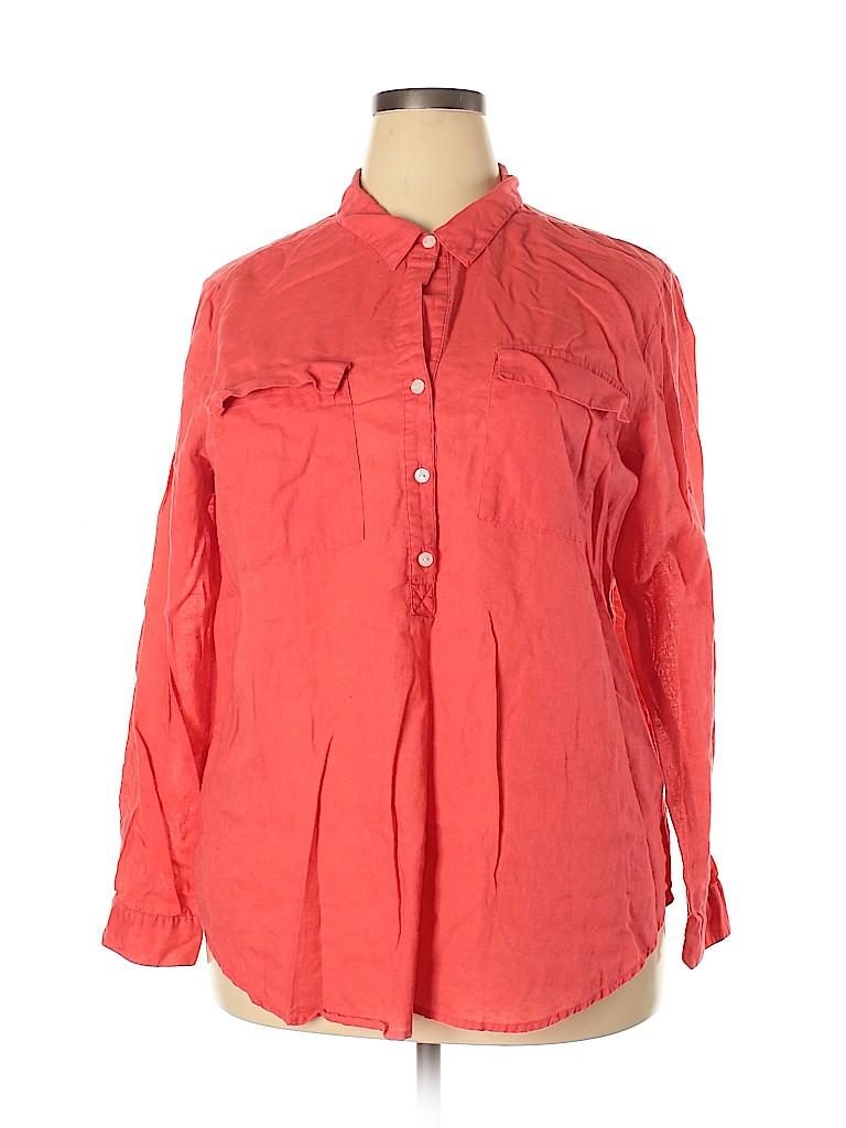 Old Navy Women Long Sleeve Blouse Size XXL
