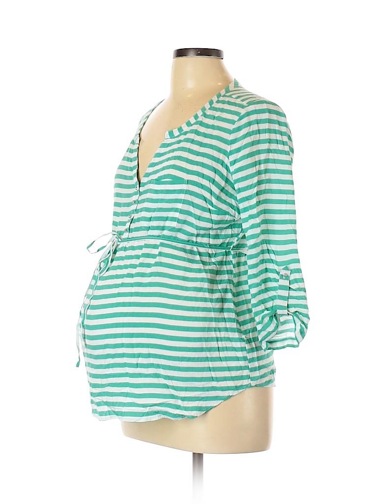 Motherhood Women 3/4 Sleeve Blouse Size L (Maternity)