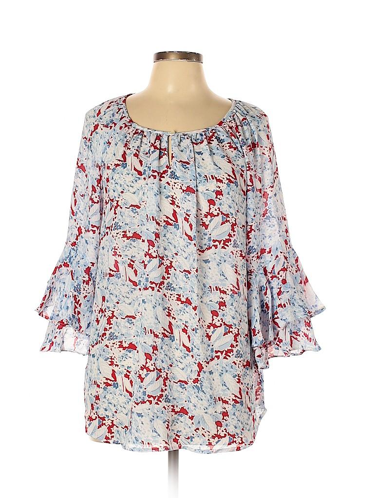 Chaps Women 3/4 Sleeve Blouse Size L