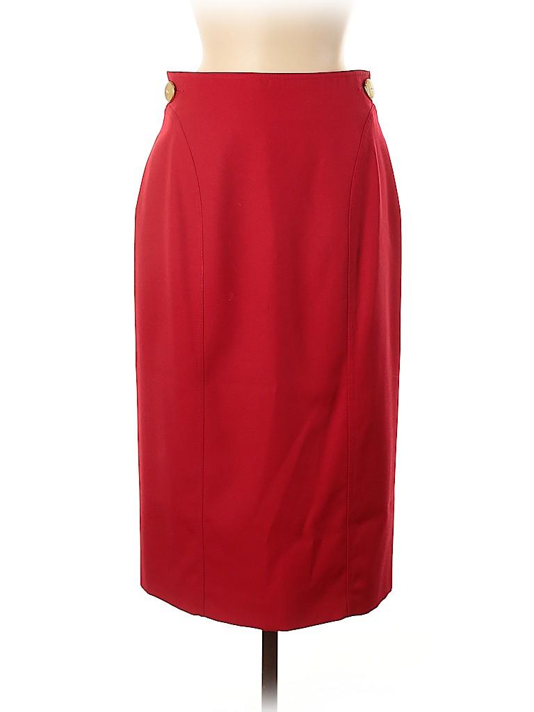 Valentino Women Wool Skirt Size 10