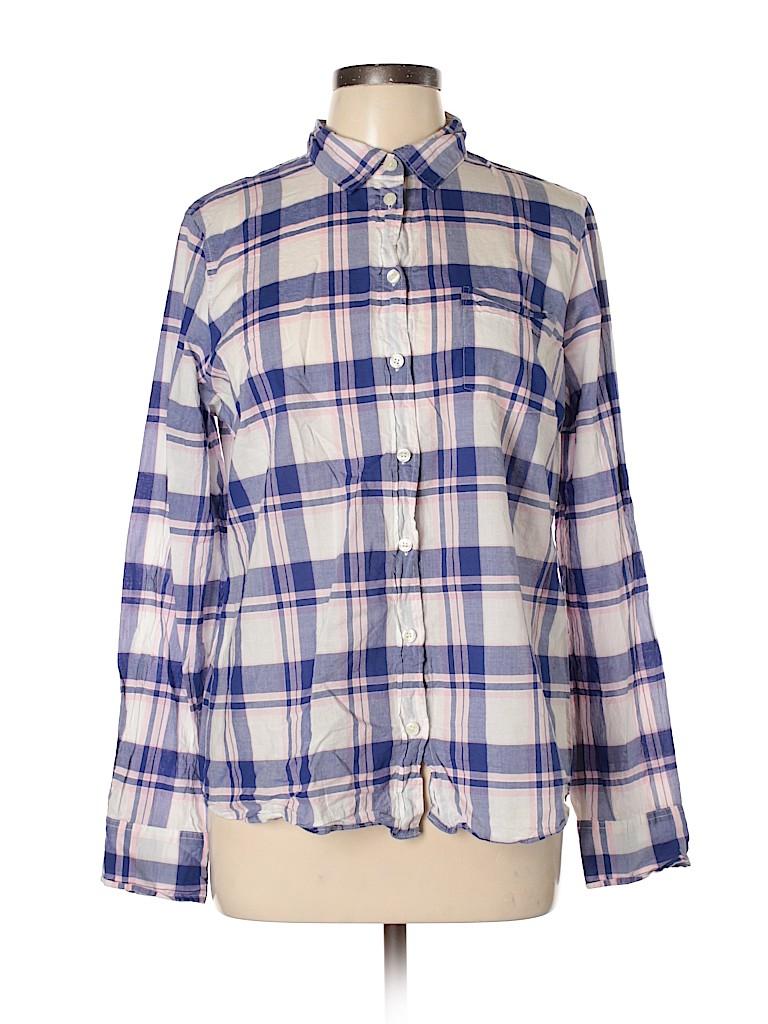 J. Crew Women Long Sleeve Button-Down Shirt Size L