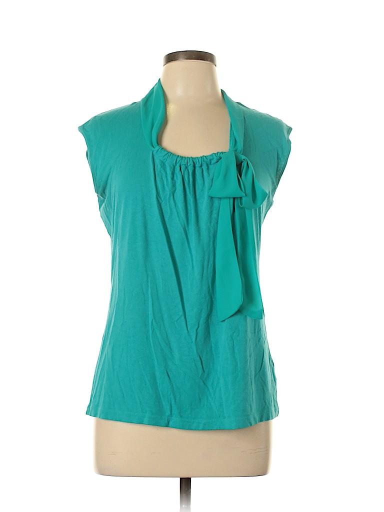 AK Anne Klein Women Short Sleeve Top Size L