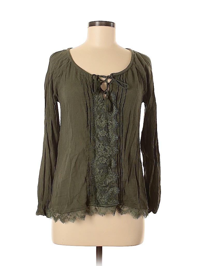 Hollister Women Long Sleeve Blouse Size M