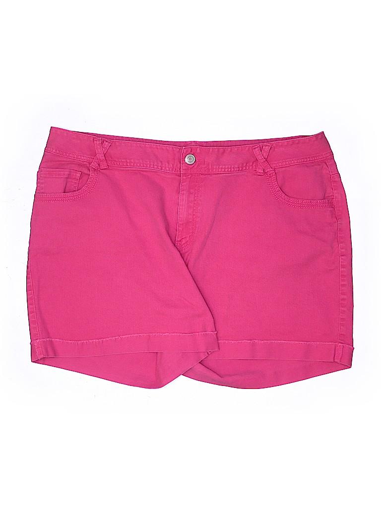 Lane Bryant Women Denim Shorts Size 24 (Plus)
