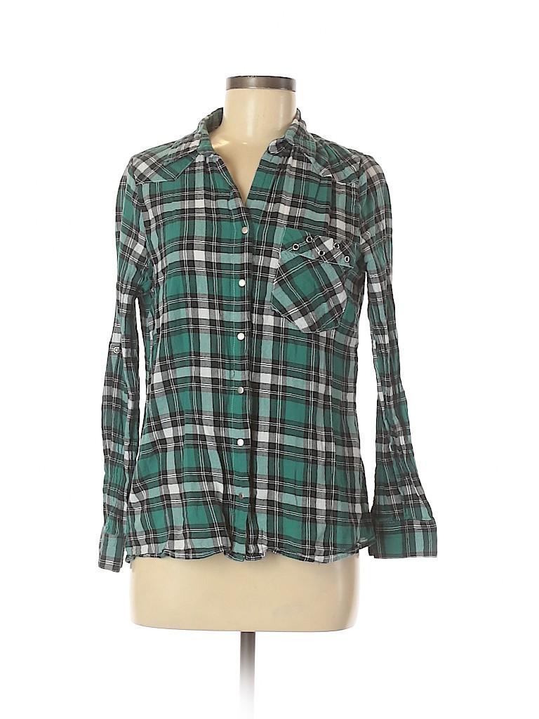 Assorted Brands Women Long Sleeve Button-Down Shirt Size M
