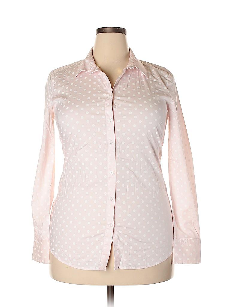 Ann Taylor Women Long Sleeve Button-Down Shirt Size 14