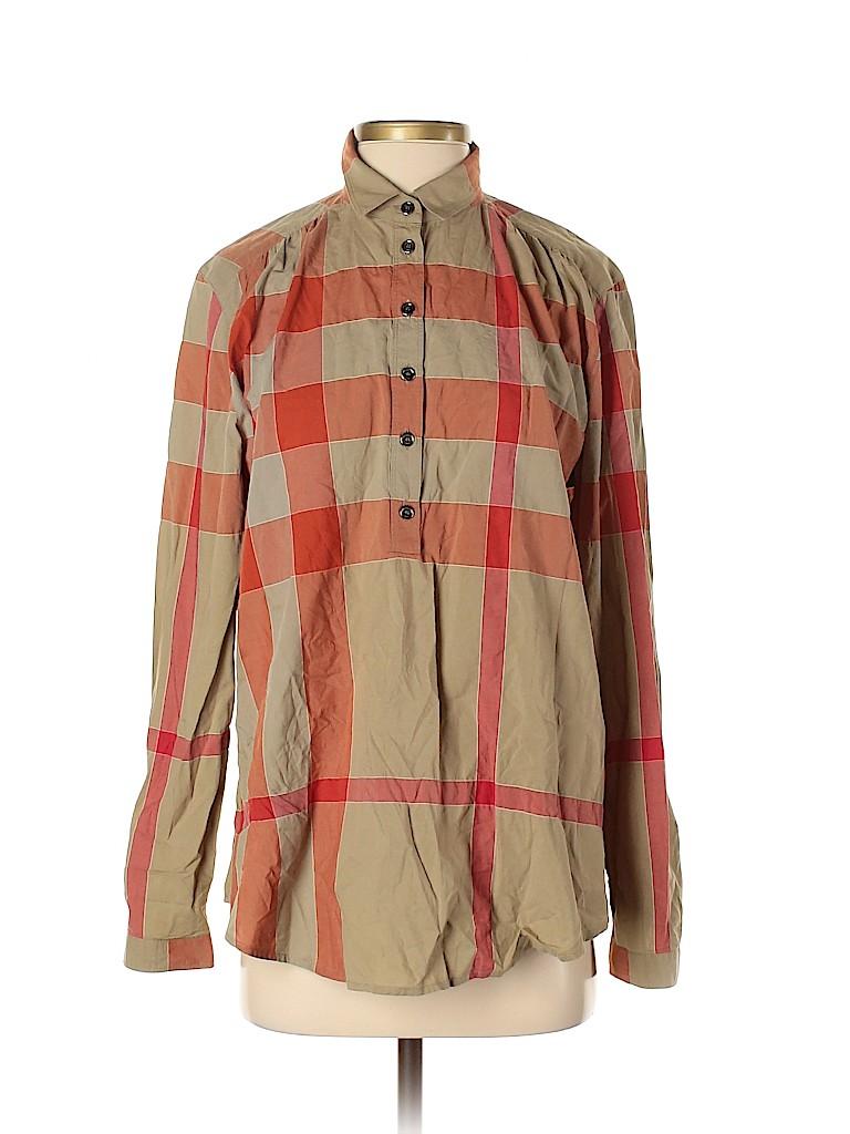 Burberry Brit Women Long Sleeve Button-Down Shirt Size S
