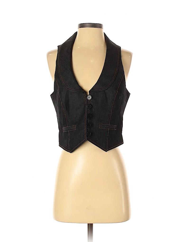 Ann Taylor LOFT Women Denim Vest Size 4
