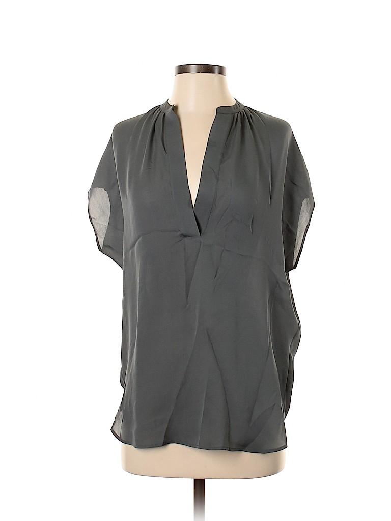 Vince. Women Short Sleeve Silk Top Size XS
