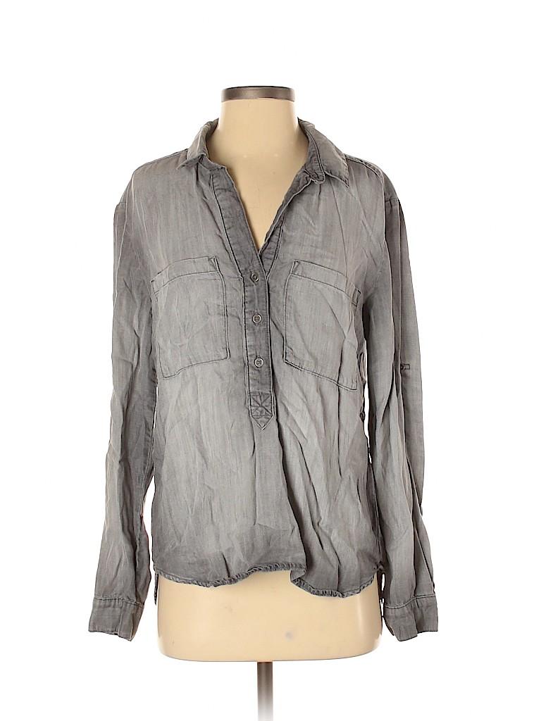 Bella Dahl Women Long Sleeve Button-Down Shirt Size S