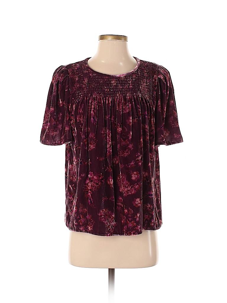 Rebecca Taylor Women Short Sleeve Top Size 8