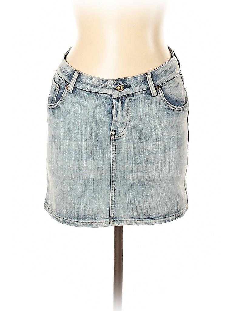 7 For All Mankind Women Denim Skirt 31 Waist