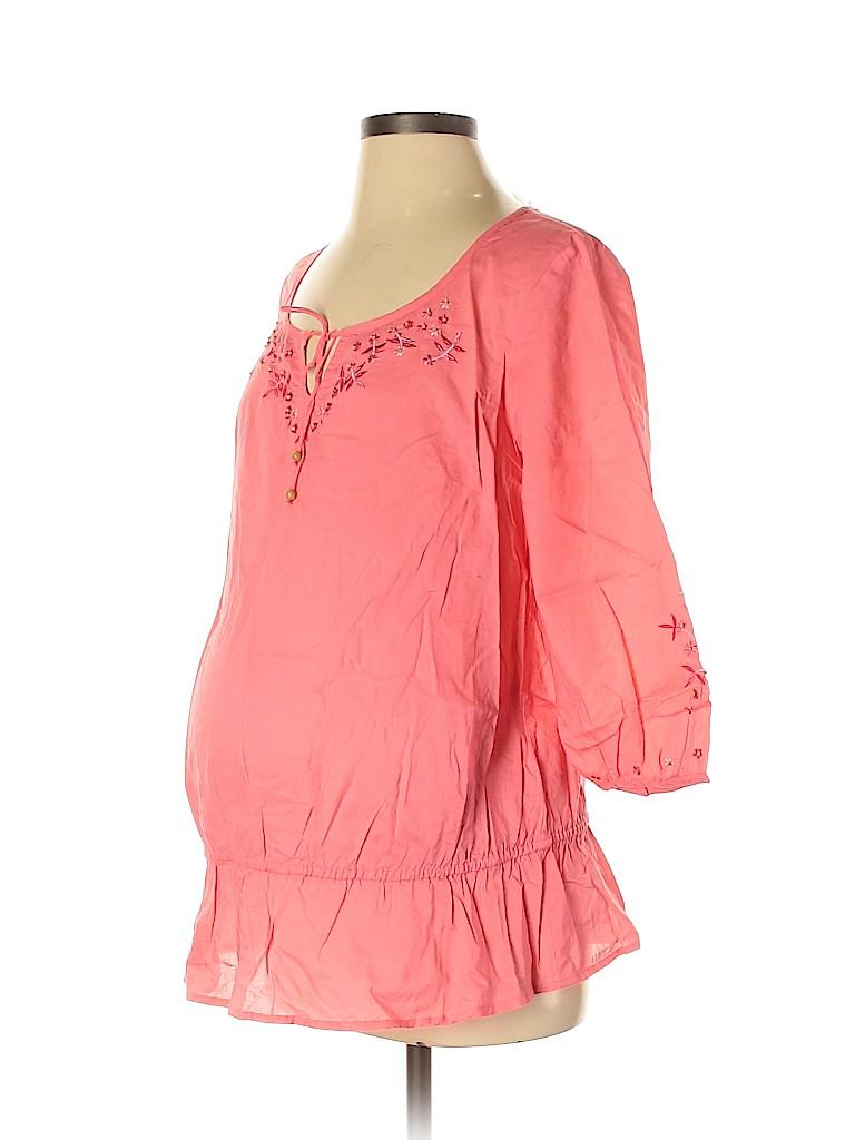 Oh! Mamma Women 3/4 Sleeve Blouse Size M (Maternity)