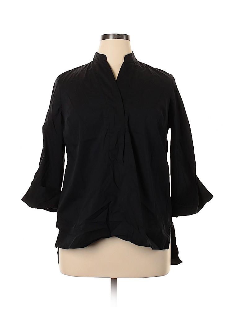 ELOQUII Women 3/4 Sleeve Blouse Size 14 (Plus)