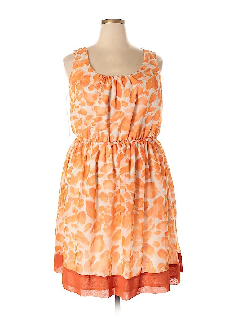Elle Women Casual Dress Size 1X (Plus)