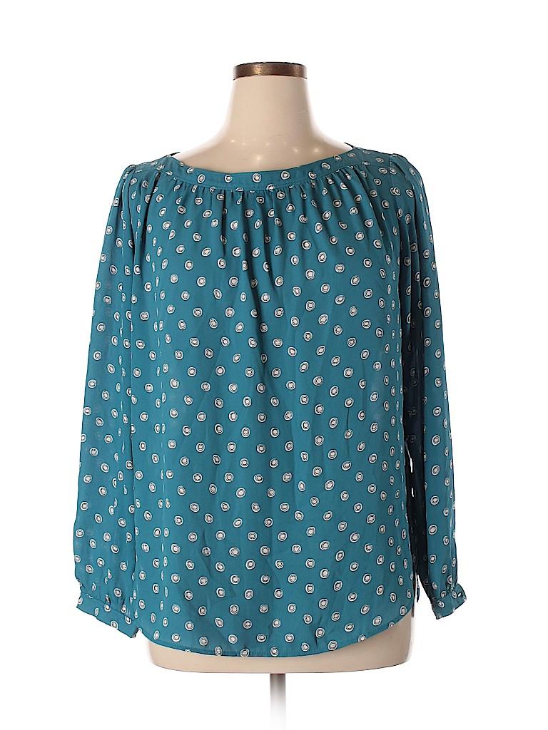 Ann Taylor LOFT Outlet Women Long Sleeve Blouse Size L
