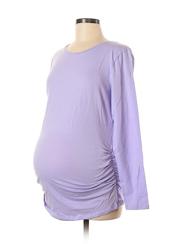 Old Navy Women Long Sleeve T-Shirt Size L (Maternity)