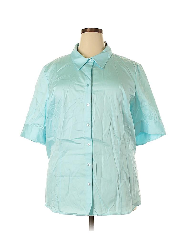 Lane Bryant Women Short Sleeve Blouse Size 26 - 28 Plus (Plus)