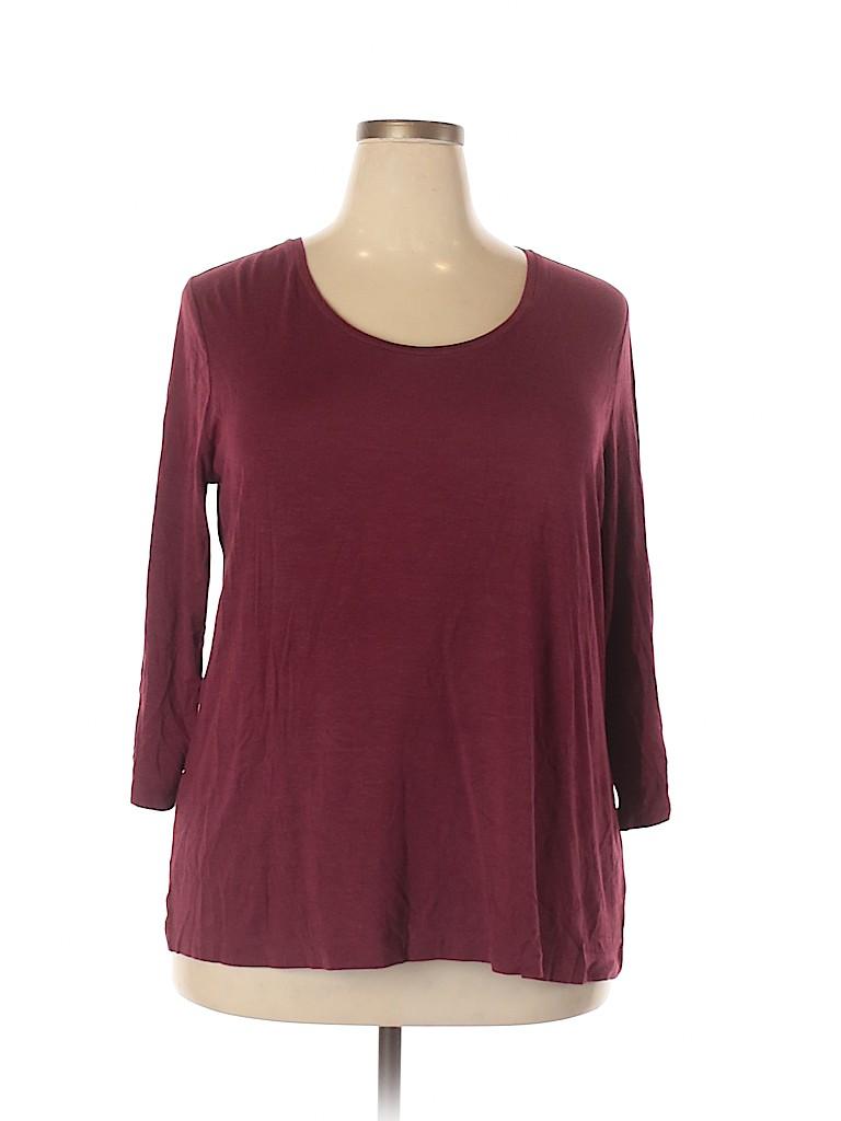 Cato Plus Women 3/4 Sleeve T-Shirt Size 18 - 20 Plus (Plus)