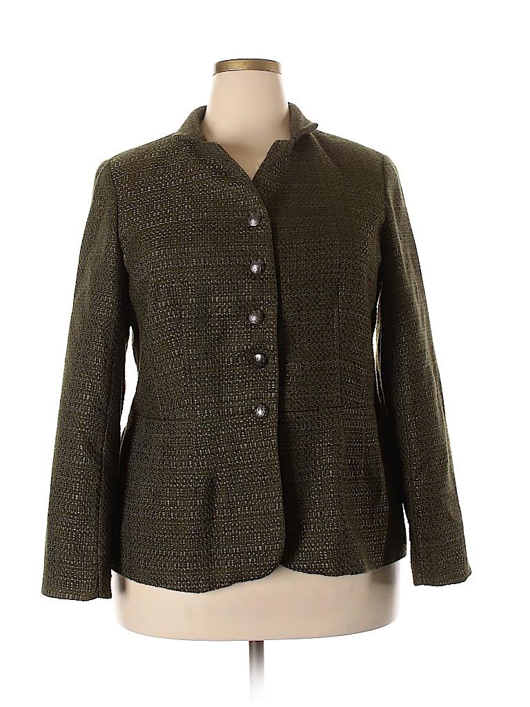 Coldwater Creek Women Blazer Size 18 (Plus)