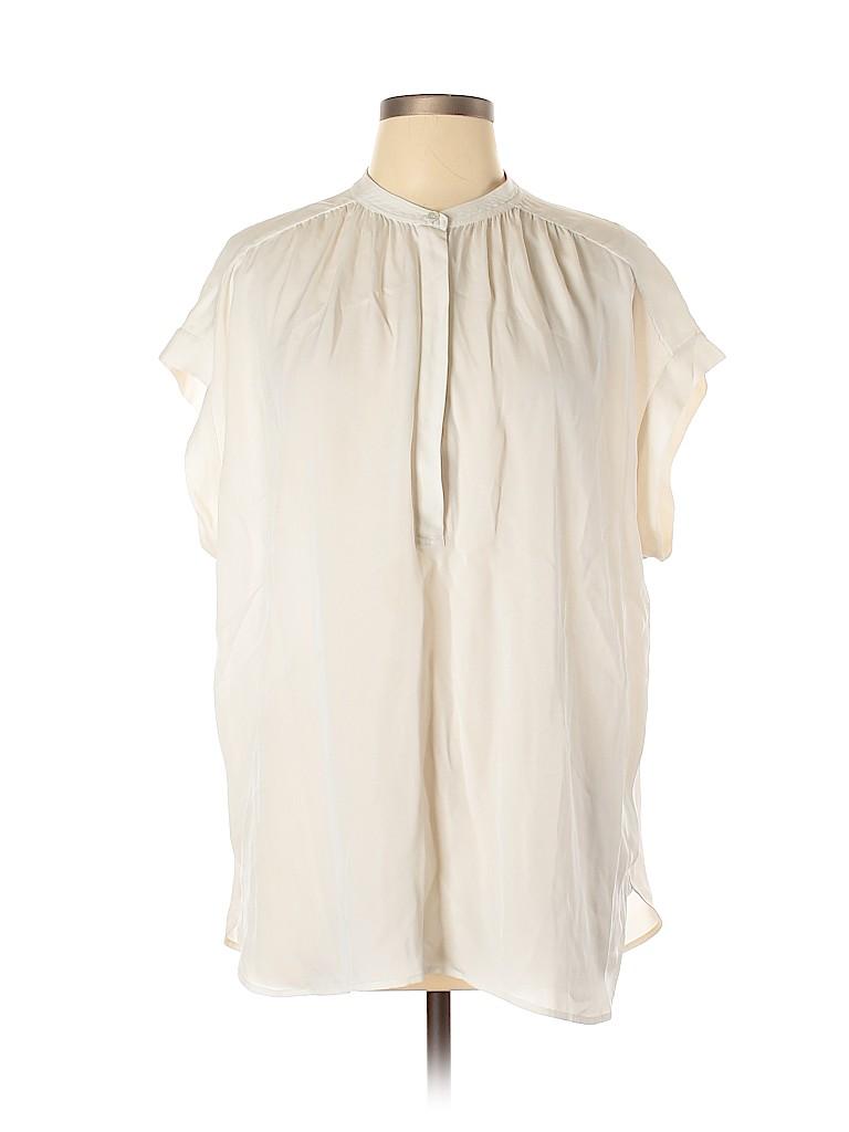 Vince. Women Short Sleeve Silk Top Size L