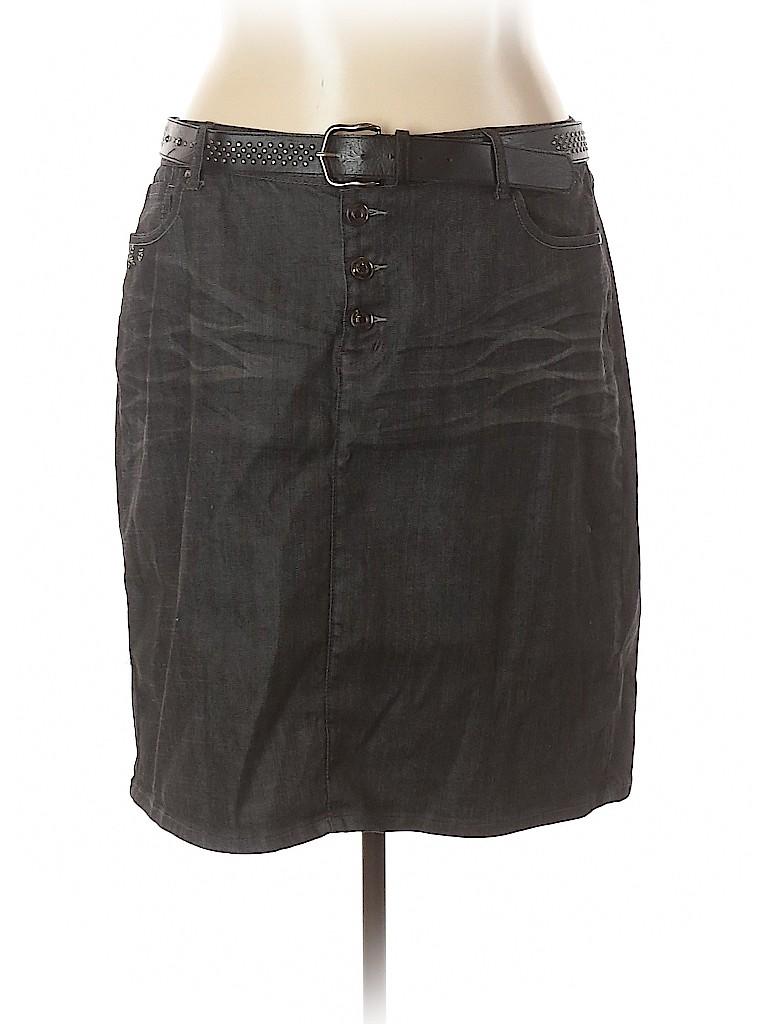 Lane Bryant Women Denim Skirt Size 24 (Plus)