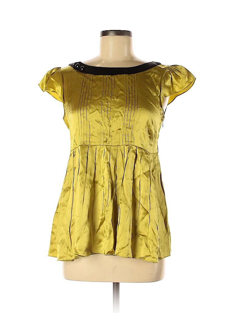 Julie Haus Women Short Sleeve Silk Top Size 6