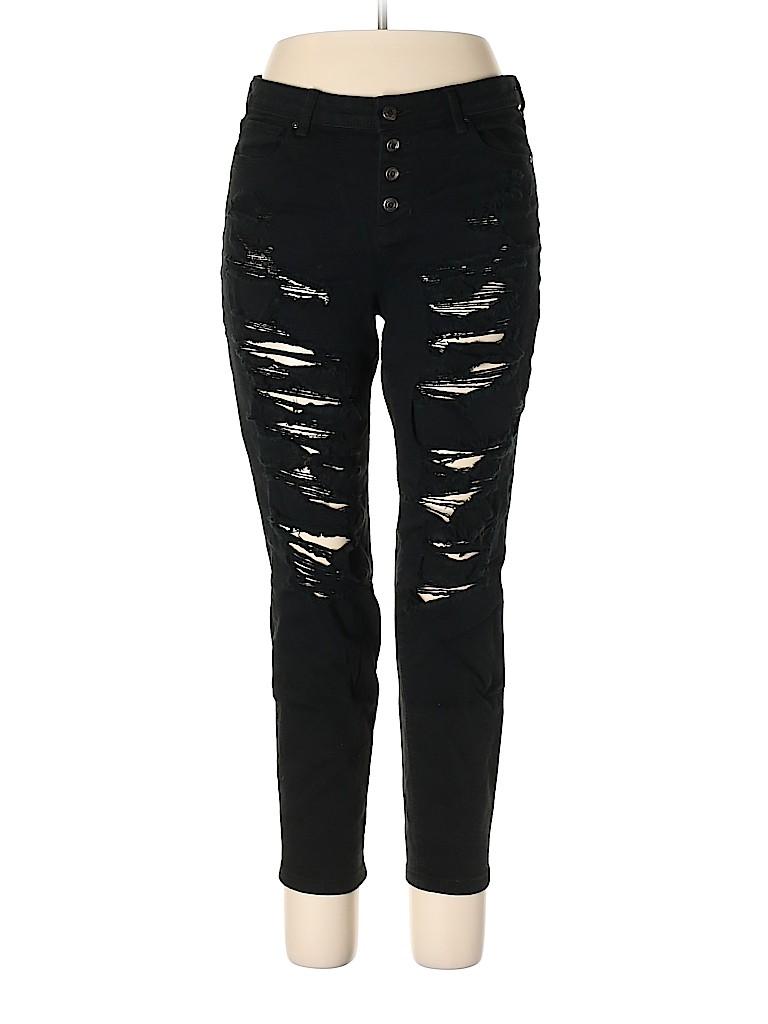 Black Daisy Women Jeans Size 15