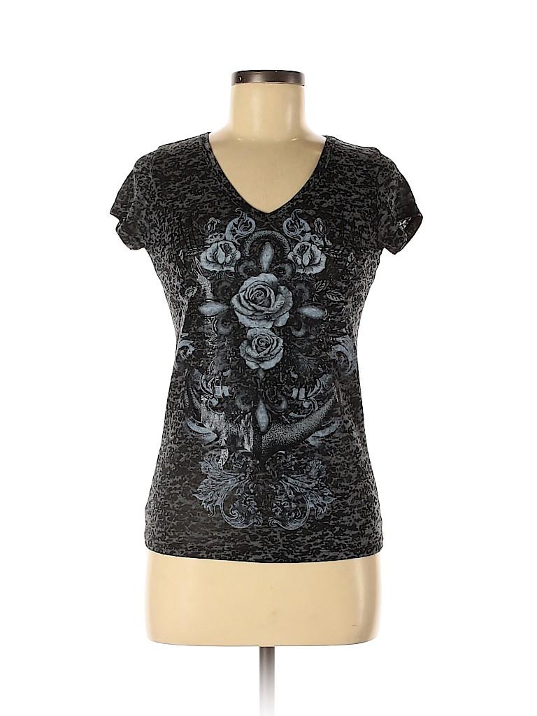 Rue21 Women Short Sleeve T-Shirt Size M