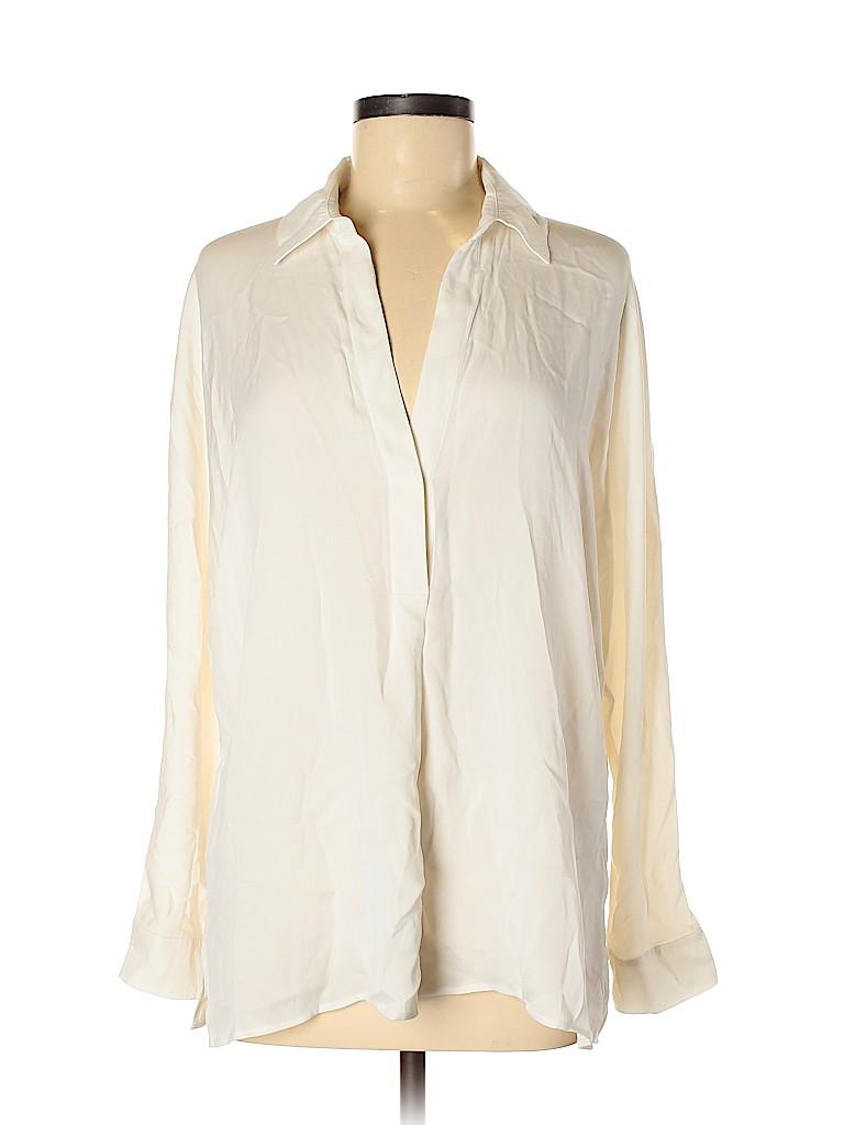 Vince. Women Long Sleeve Silk Top Size M