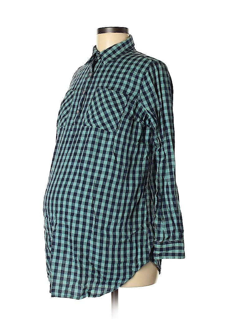Liz Lange Maternity Women Long Sleeve Button-Down Shirt Size S (Maternity)