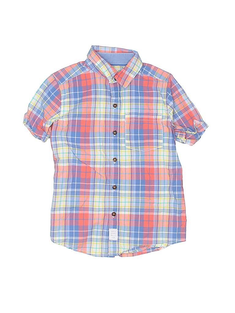 Carter's Boys Short Sleeve Button-Down Shirt Size 5