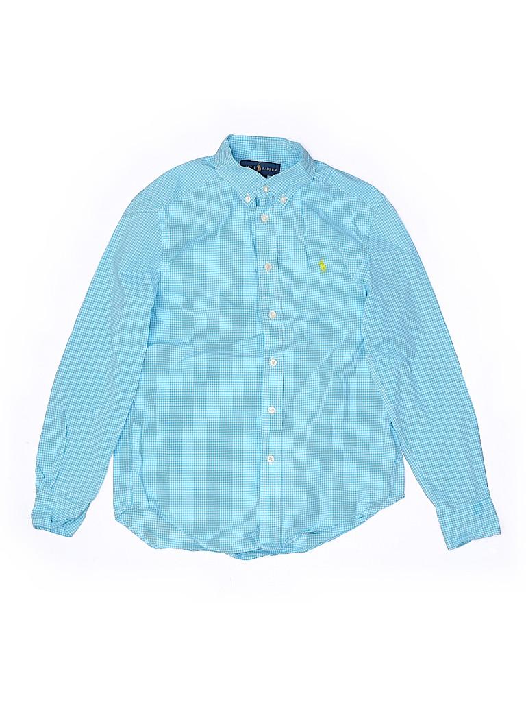 Ralph Lauren Boys Long Sleeve Button-Down Shirt Size M (Kids)
