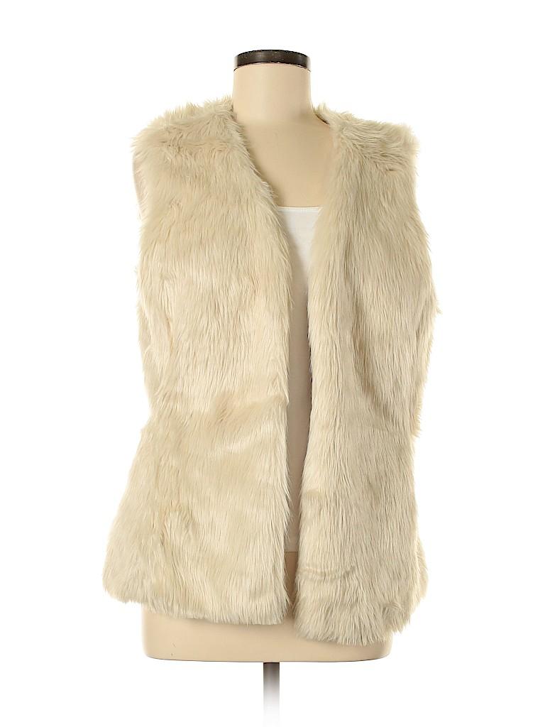 Old Navy Women Faux Fur Vest Size M