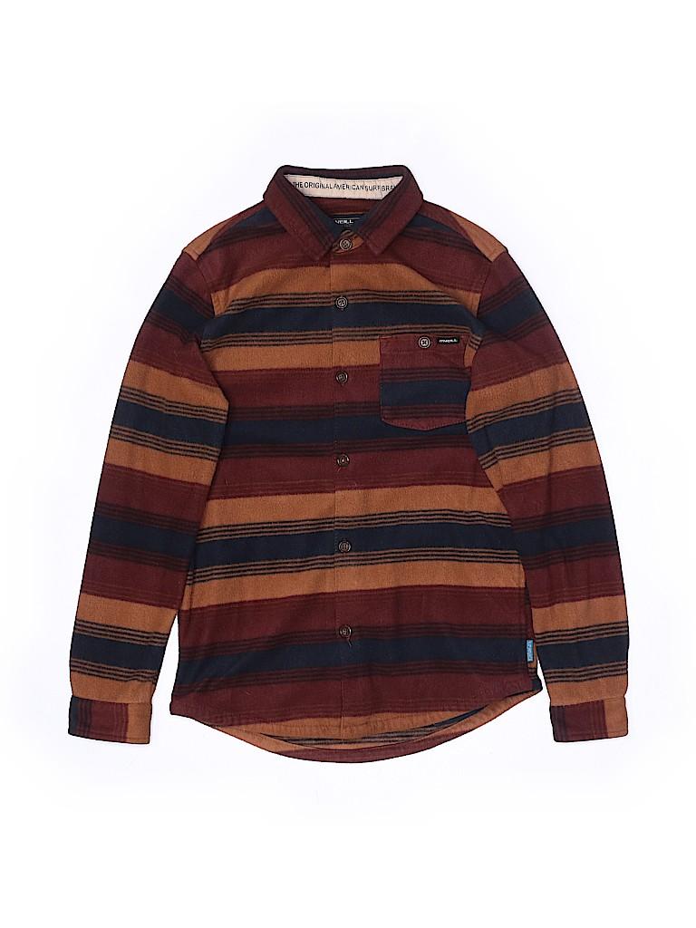 O'Neill Boys Long Sleeve Button-Down Shirt Size M (Kids)