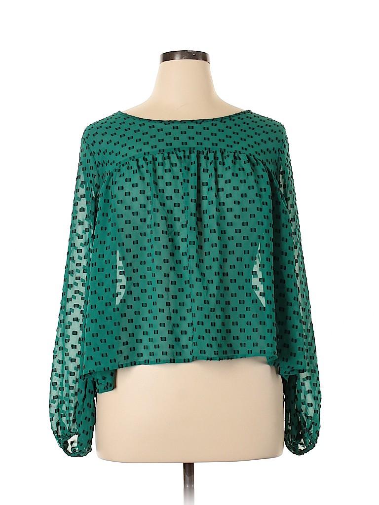 Merona Women Long Sleeve Blouse Size XL