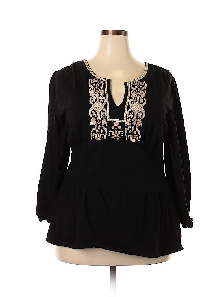 EShakti Women 3/4 Sleeve Top Size 22 (Plus)