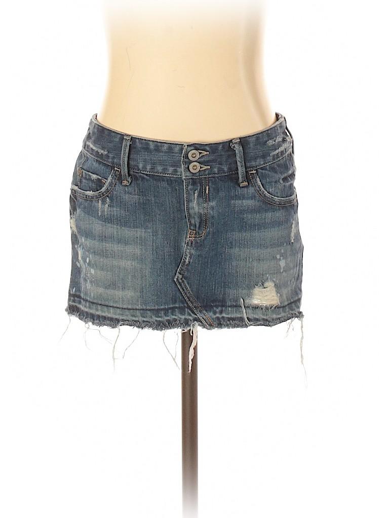 Hollister Women Denim Skirt Size 0