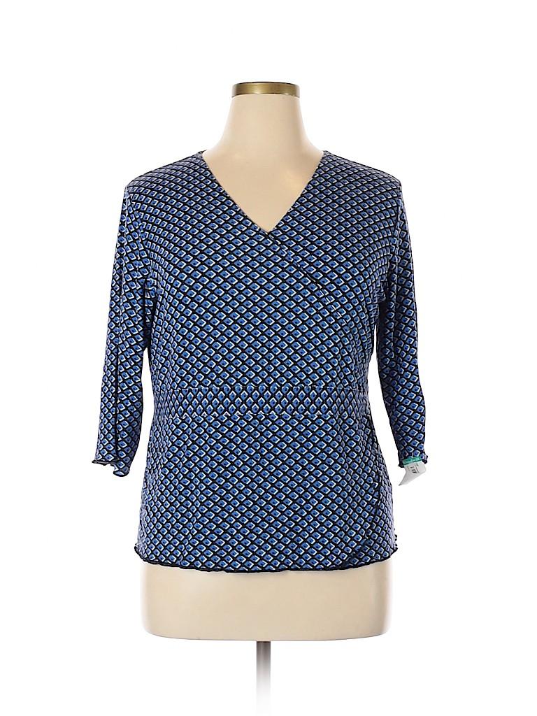 Style&Co Women 3/4 Sleeve Blouse Size 1X (Plus)