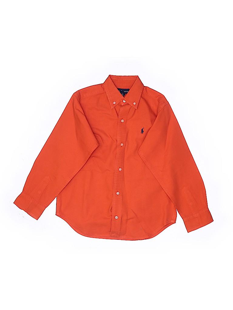 Ralph Lauren Boys Long Sleeve Button-Down Shirt Size 7
