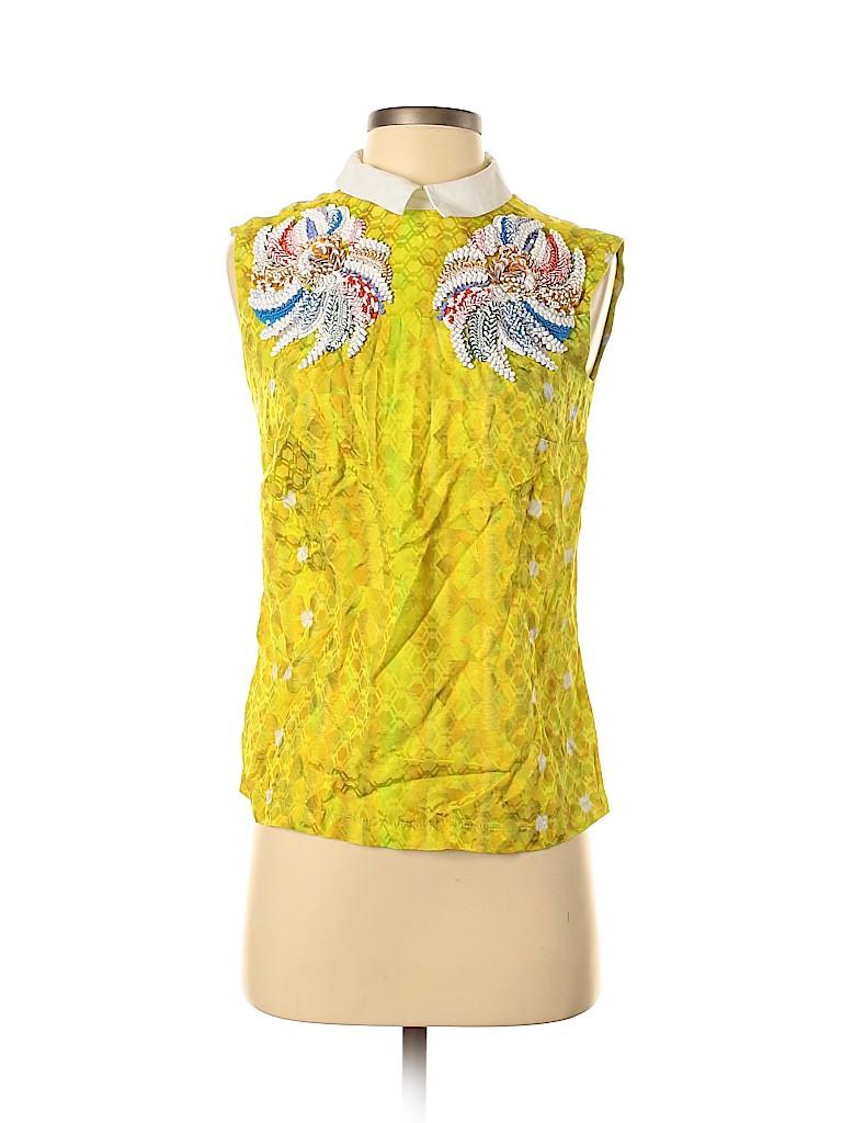 Peter Pilotto Women Sleeveless Silk Top Size 10 (UK)