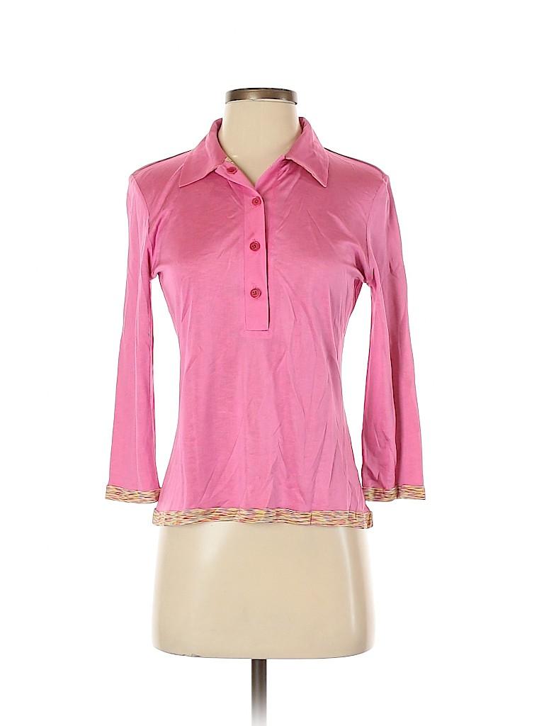 M Missoni Women 3/4 Sleeve Silk Top Size 4
