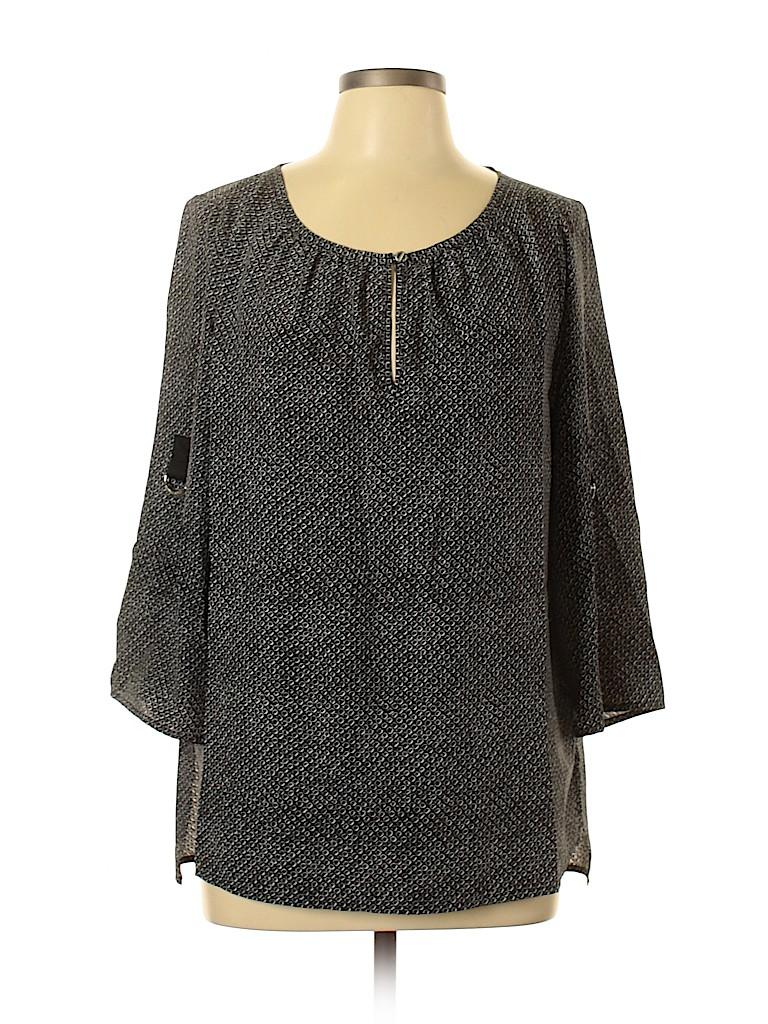 MICHAEL Michael Kors Women 3/4 Sleeve Blouse Size L