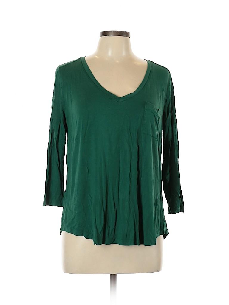 Merona Women Long Sleeve T-Shirt Size XL