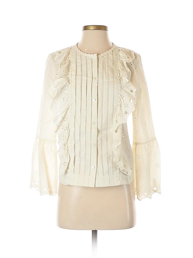 J. Crew Women Long Sleeve Blouse Size 0