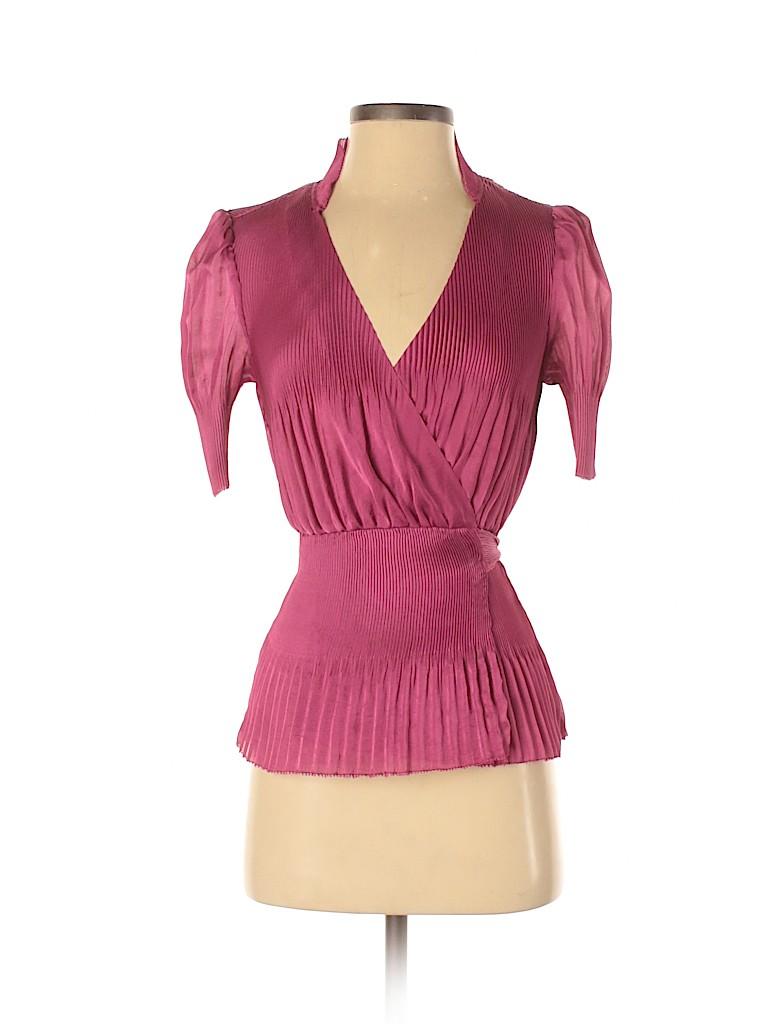 Diane von Furstenberg Women Short Sleeve Blouse Size 2